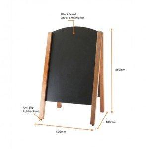 Chalkboard dimensions