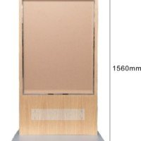 Floor poster stand with PVC Sheets