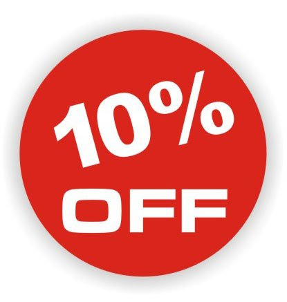 10% off label