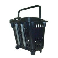 Shopping basket on wheels