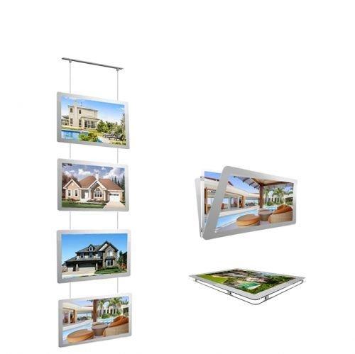 LED Real estate window display