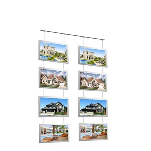 LED real estate window display