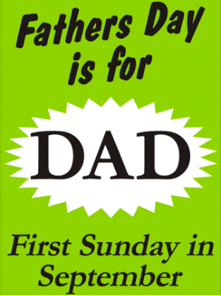Father's Day Showcard