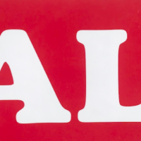 SALE POSTER RED AND WHITE